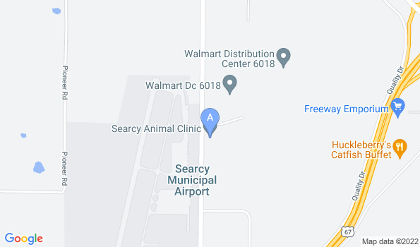 Street map of Searcy Animal Clinic