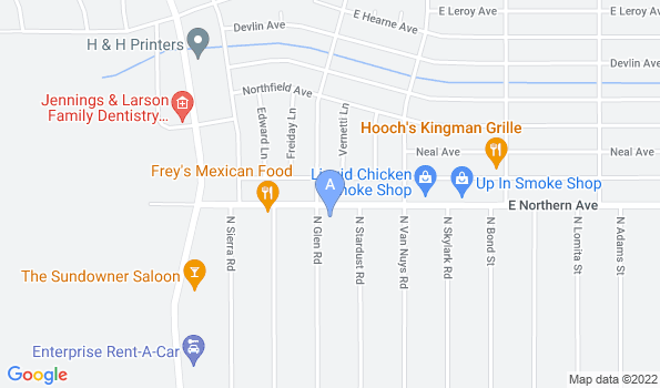 Street map of Kingman Animal Hospital