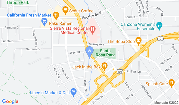 Street map of Stenner Creek Animal Hospital