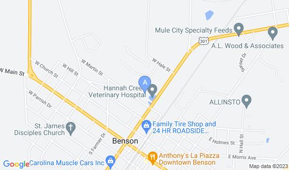 Street map of Hannah Creek Veterinary Hospital
