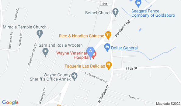 Street map of Wayne Veterinary Hospital