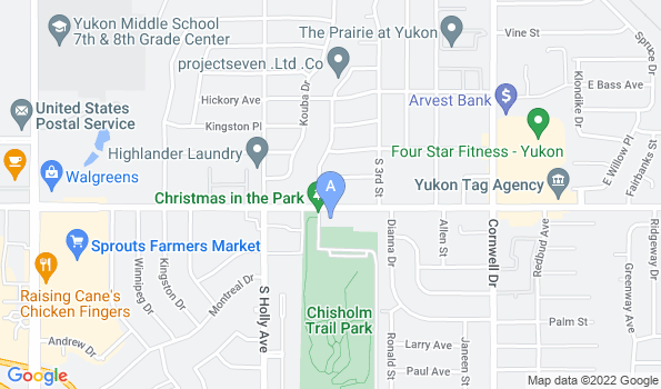 Street map of Yukon Hills Animal Hospital