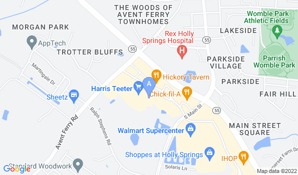 Street map of Hope Veterinary Hospital of Holly Springs