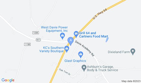 Street map of Farmland Veterinary Clinic