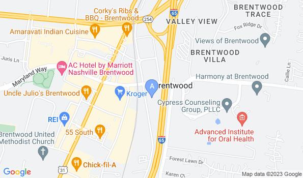 Street map of Bradford Animal Hospital