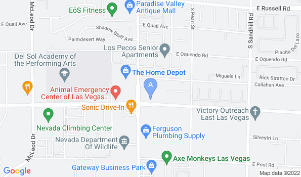 Street map of Pecos Russell Animal Hospital