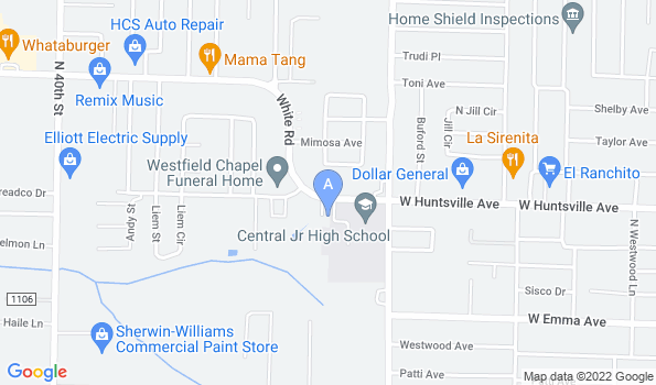 Street map of Springdale Animal Hospital