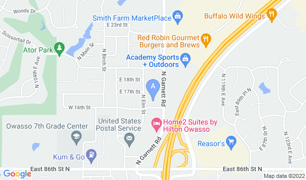 Street map of Ator Heights Animal Hospital
