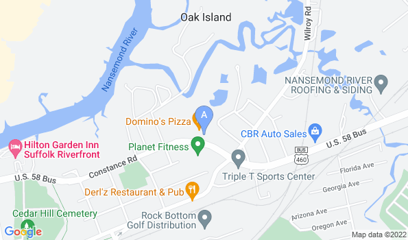 Street map of Tidewater Animal Clinic