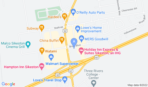 Street map of Delta Veterinary Clinic