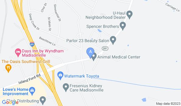 Street map of Animal Medical Center