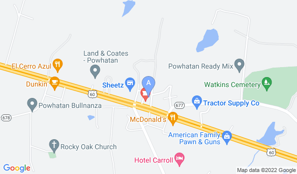 Street map of Powhatan Animal Hospital