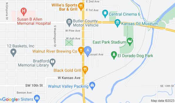 Street map of El Dorado Veterinary Hospital