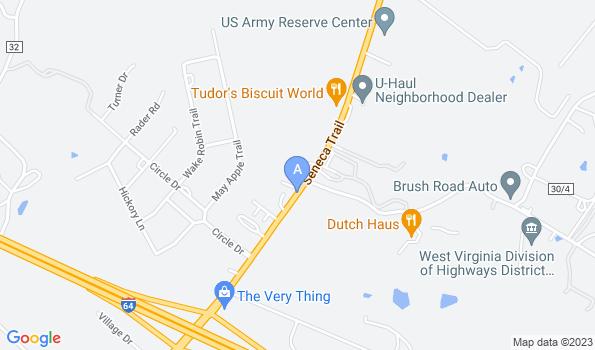 Street map of Seneca Trail Animal Hospital