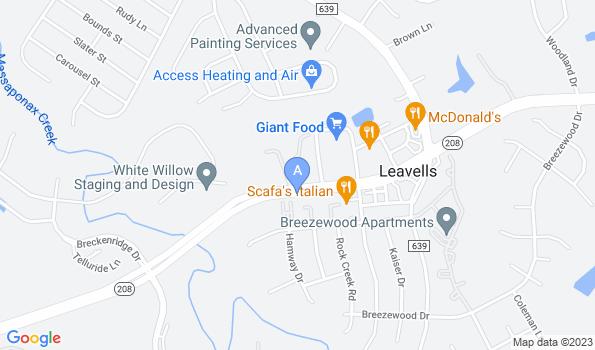 Street map of Leavells Animal Hospital
