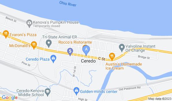 Street map of Ceredo Kenova Animal Clinic