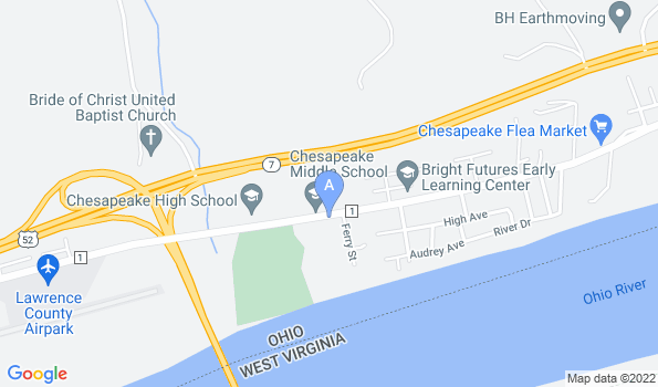 Street map of Chesapeake Veterinary Clinic