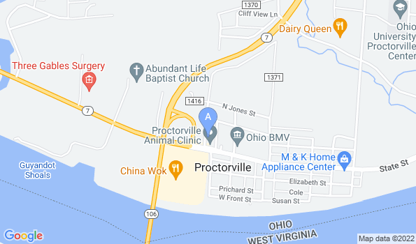 Street map of Proctorville Animal Clinic