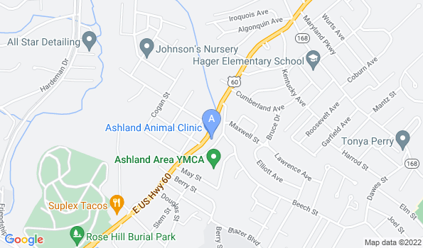 Street map of Ashland Animal Clinic