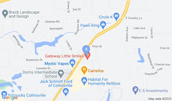 Street map of Hillside Pet Clinic
