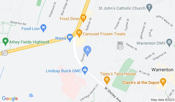 Street map of Animal Medical Center of Warrenton
