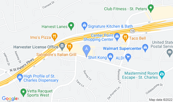 Street map of Harvest Plaza Animal Hospital