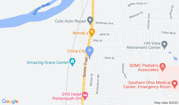 Street map of Scioto Trail Animal Clinic