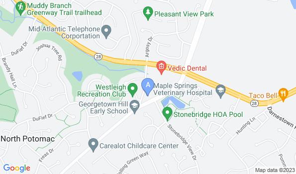 Street map of Maple Spring Veterinary Hospital