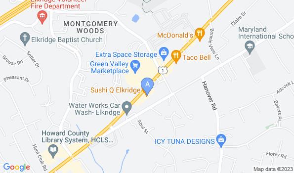 Street map of Elkridge Animal Hospital