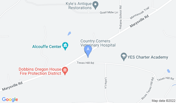 Street map of Country Corners Veterinary Hospital