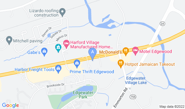 Street map of Edgewood Veterinary Hospital