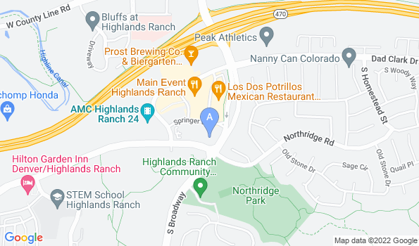 Street map of Highlands Ranch Animal Clinic
