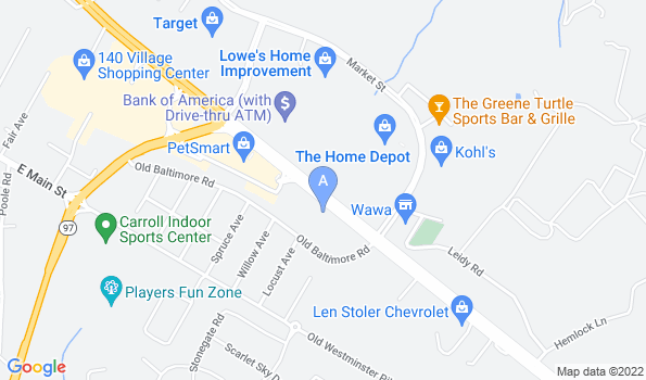 Street map of Carroll County Veterinary Clinic