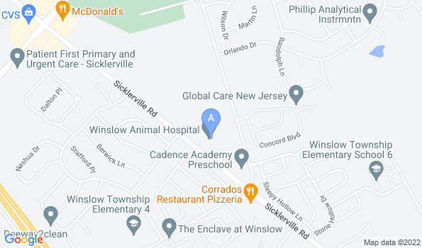 Street map of Winslow Animal Hospital