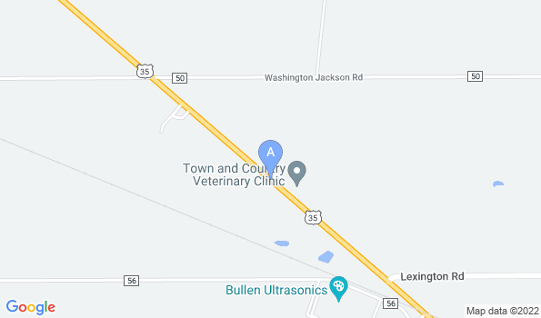 Street map of Town & Country Veterinary Clinic