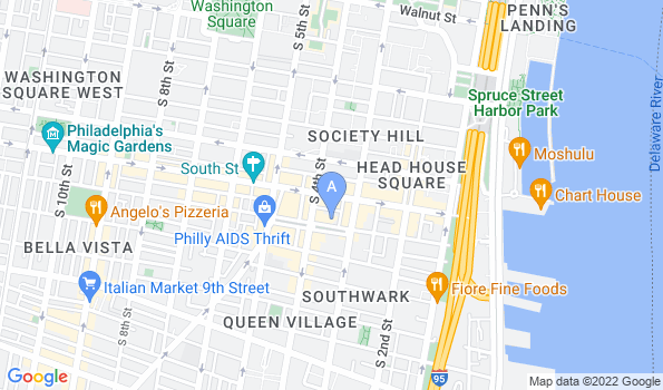 Street map of Queen Village Animal Hospital