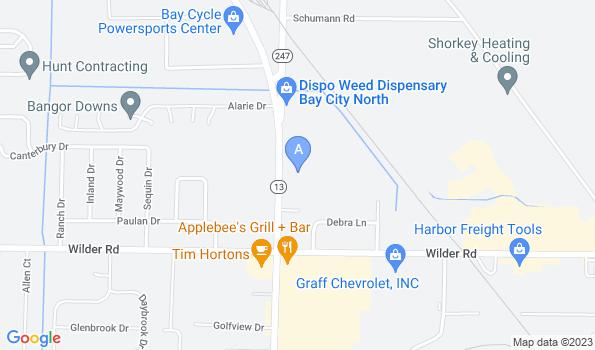 Street map of Bangor Veterinary Clinic