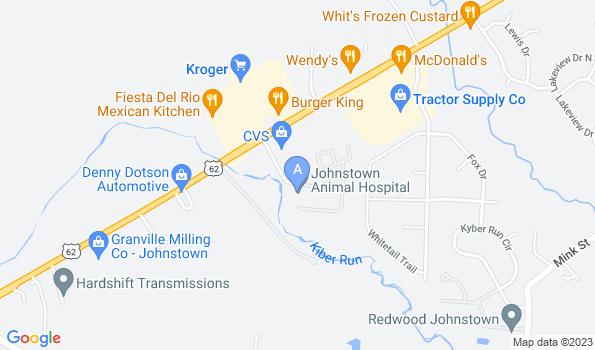 Street map of Johnstown Animal Hospital