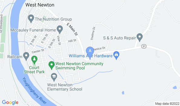 Street map of West Newton Animal Clinic