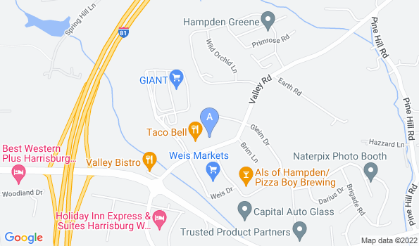 Street map of Valley Road Animal Hospital
