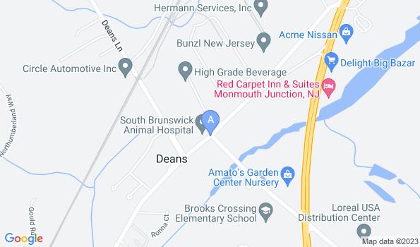 Street map of South Brunswick Animal Hospital
