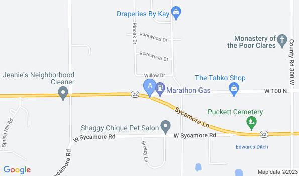 Street map of Jefferson Road Animal Hospital