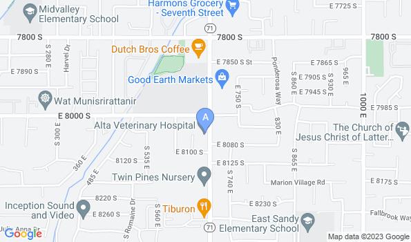 Street map of Alta Veterinary Hospital