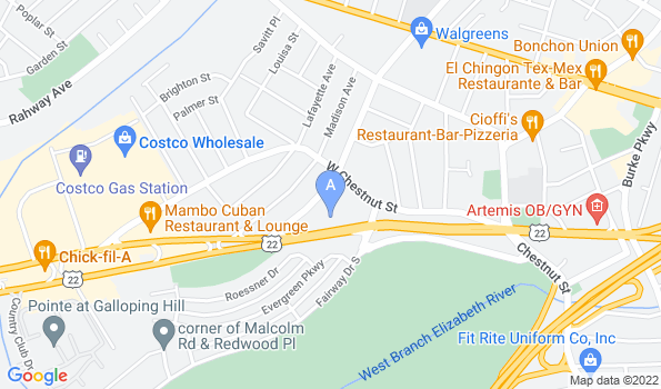 Street map of Eastland Veterinary Hospital