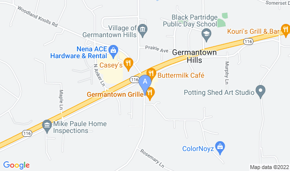 Street map of Germantown Hills Animal Hospital