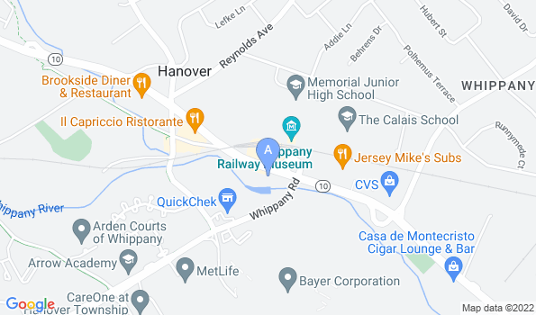 Street map of Whippany Veterinary Hospital