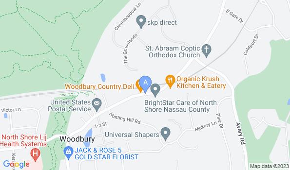Street map of Woodbury Animal Hospital