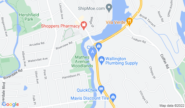 Street map of Wayne Animal Hospital