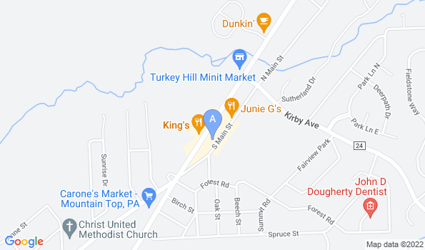 Street map of Mountaintop Animal Hospital