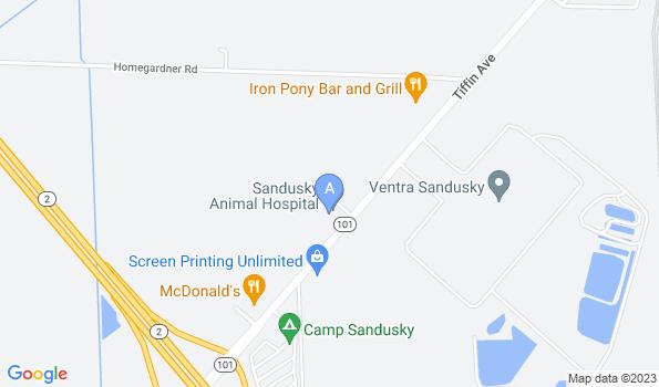 Street map of Sandusky Animal Hospital